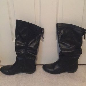 Black Leather Boots Rock & Candy